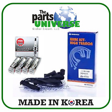 Spark Plug Wire Set  4 VPower NGK Spark Plugs Forenza Reno Optra Leganza Nubira