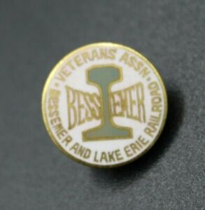 Vintage Bessemer and Lake Erie Railroad Veterans Assn. Pin