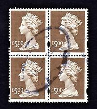 UK / GREAT BRITAIN 1999 USED 5 POUND ELLIPTICAL PERF MACHIN BLOCK - CV $37
