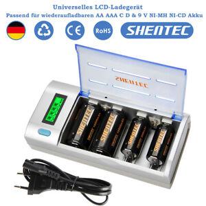 Universal Akku Ladegerät LCD Batterieladegerät für AA AAA SC C D 9V NI-MH NI-CD
