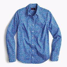 NWT J.CREW SZ 0 Perfect shirt in Liberty Art Fabrics Bellis print