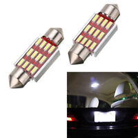 2Pcs 36mm 4014 12SMD LED Light C5W Canbus Festoon Dome Car License Plate Lamp