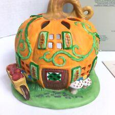 PartyLite Pumpkin Patch Tealight House Candle Holder Halloween Autumn P7303