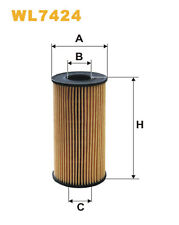 WIX WL7424 Car Oil Filter Eco Cartridge Replaces HU618x CH10076ECO OX3891D
