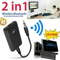 Bluetooth 5.0 Transmitter and Receiver 2-in-1 Wireless 3.5mm Audio Aux