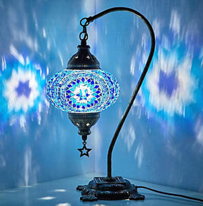 Turkish Moroccan Mosaic Lamp - BLUE