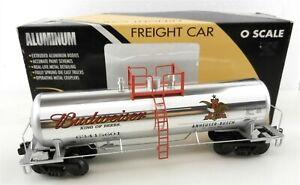 K-Line O K6341-5601 Extruded Aluminum Tank Car Budweiser 63415601 Chrome  T176