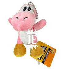SUPER MARIO BROS. YOSHI ROSA PELUCHE PORTACHIAVI plush keychain pink doll new ds