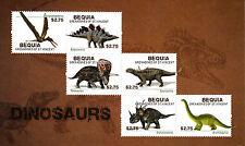 Bequia Gren St Vincent 2013 Mnh Dinosaurs 6v M/S Stegosaurus Brontosaurus Stamps