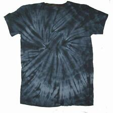 PETITE BLACK SPIDER TYE DYED TEE SHIRT unisex LARGE hippie tie dye PET 10 new
