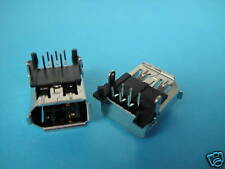 Lot-10 Right Angle FireWire 1394 6 Pin Panel PCB Chassis Jack Socket solder,PK1