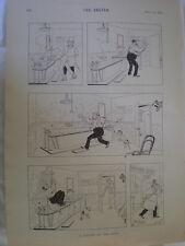 A Knight of the Bath Rene Bull cartoon 1894 old print Ref R