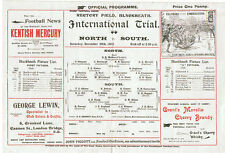 ENGLAND RUGBY INTERNATIONAL TRIAL PROGRAMME 20 Dec 1902 at BLACKHEATH