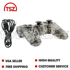 For Sony Playstation 3 PS3 Camo Wireless Bluetooth Video Game Controller + Cord