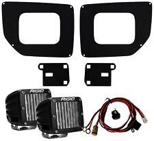 RIGID Fog Light Kit DOT SAE D-Series LED Lights for 15-19 GMC Sierra 2500 3500