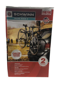 Schwinn 2-Bike Trunk Rack Max Weight Per Bike 35 lbs Versatile Easy To Store