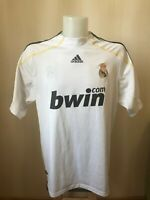 Real Madrid 2009/2010 home Size L Adidas shirt jersey football maillot soccer