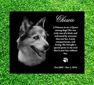 12x9 Headstone dog tombstone Laser Engrave Grave Marker memorial non Granite