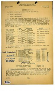 Special Orders No. 313 Multi Signed Document BAS A14678 Atomic Bomb Wendover x6