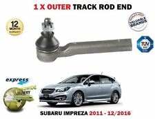 FOR SUBARU IMPREZA 1.6 FB16 1600CC 2011-> NEW 1 X OUTER STEERING TRACK ROD END
