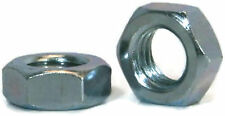 "Hex Jam Nut Zinc Plated Grade A Steel Hex Nuts - 3/8""-24 UNF - QTY 50"