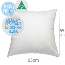 Aus Made Premium Memory Resistant European Pillow Cushion Insert 65x65cm