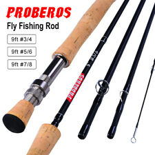 Fly Fishing Rod 4 Piece 9ft Saltwater Fly Rods for Walleye Bass Salmon Trout