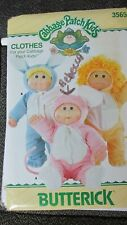 Cabbage Patch Doll Clothes - Pattern 3565 - Pajamas & Costumes