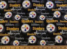 NEW NFL PITTSBURGH STEELERS COTTON Fabric 1/4yard=9inX44in HELMETS DIY MASK
