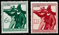 1944 Germany full set 2 stamps Countryside Hunting in Innsbruck in mounted mint