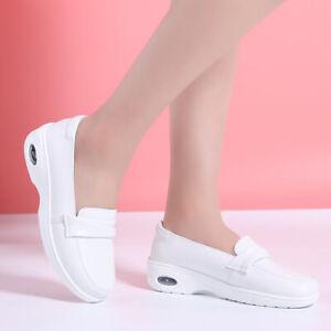 Women Nurse Shoes Cushion Soft Bottom Pregnant Non-Slip White Casual Wedge Shoe