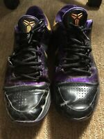 Nike Zoom Kobe Bryant V 5 Lakers Away Del Sol Mens Basketball 386429-071 Sz 11.5
