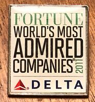 Delta Airlines 2011 Fortune World's Most Admired Companies Lapel Pin ~ Aviation