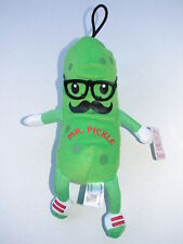 MR PICKLE STUFFED PLUSH DOLL W/ MUSTACHE AND PLASTIC GLASSES NEW WITH TAG FIESTA