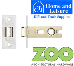 """ARCHITECTURAL QUALITY BOLT THROUGH TUBULAR DOOR LATCH 2.5"""" Satin Stainless"""