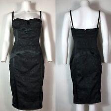 Rare Vtg Dolce & Gabbana D&G Black Lace Corset Dress L