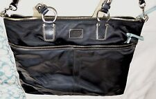 AUTHENTIC COACH LEATHERWARE Baby Bag /DIAPER/ BLACK Polyester WITH BABY MAT