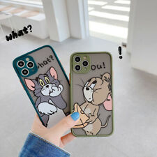 Cute Jreey And Tom TPU + PC Phone Case Cover For iPhone 11 Pro Max 8 7 Plus XR X