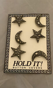 Stars & Moon Hold It Button Covers. 6 Covers. NEW