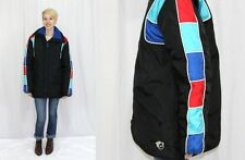 Vintage 70s 80s ARTIC CAT Black Colorblock Retro Snowmobile Coat Jacket~M Tall