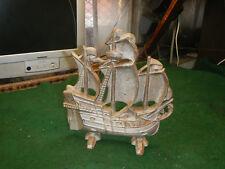 Vintage Antique Cast Iron Sailing Ship Door Stop