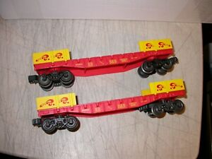 K-Line 0/027 Ringling Bros. Circus Flat Cars 665604 RB and B&B 2 Pieces Lionel