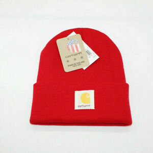 Carhartt Beanie Hat Women Men Acrylic Watch Hat Beanie Winter Warm Knit Cap New