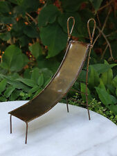 Miniature Dollhouse ~ FAIRY GARDEN Furniture ~ Rustic Antiqued Metal Slide