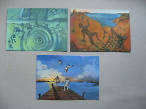 FINLAND ALAND, 3x ill. PC postage paid 2011, mint,mythic figures