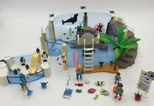 Playmobil 9060 Aquarium With Seals,can be filled with water & 9062 Penguin Pool.