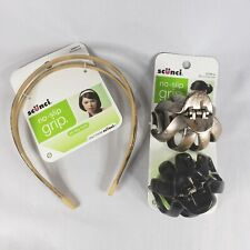 2pc Goody Scunci Hair Accessories Hairband and Hairclips lot New