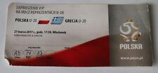 Ticket for collectors EURO q U-20 Poland - Greece in Wloclawek 2017