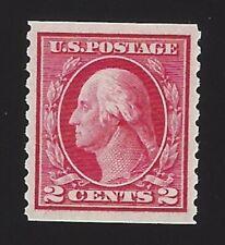 US #444 1914 Carmine Wmk 190 Perf 10 Vert Mint OG LH VF SCV $50