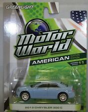 BLUE 2013 CHRYSLER 300C GREENLIGHT 1:64 SCALE DIECAST METAL MODEL CAR